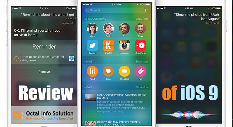 iOS 9: Here is the quick review to go through!