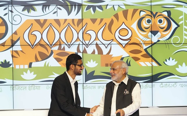 modi in silicon valley - Digital India - sundar pichai - google