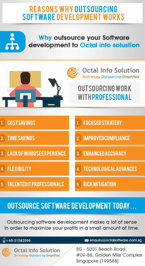 outsource software development infographic