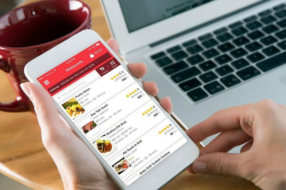 cost to develop a food ordering app